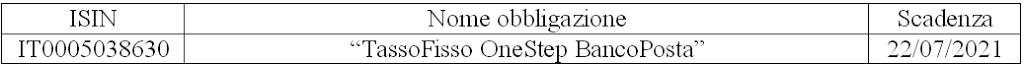 """Obbligazione """"TassoFisso OneStep BancoPosta"""" IT0005038630 IMI in Collocamento presso le Poste, Conviene?"""