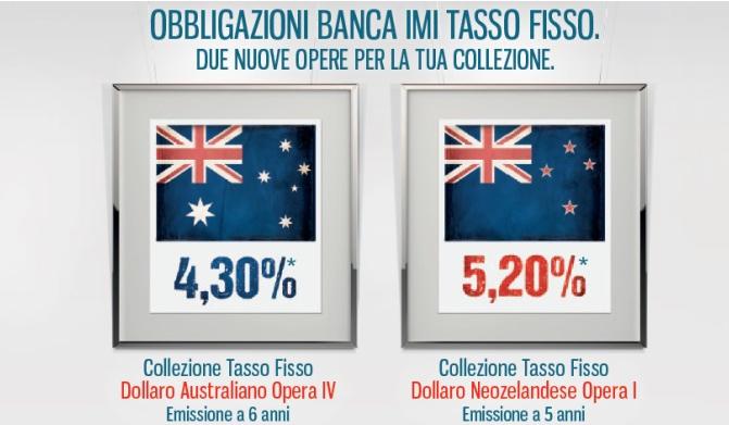 Banca IMI Emissione Collezione Opera in Dollari Australiani AUD e Neozelandesi NZD