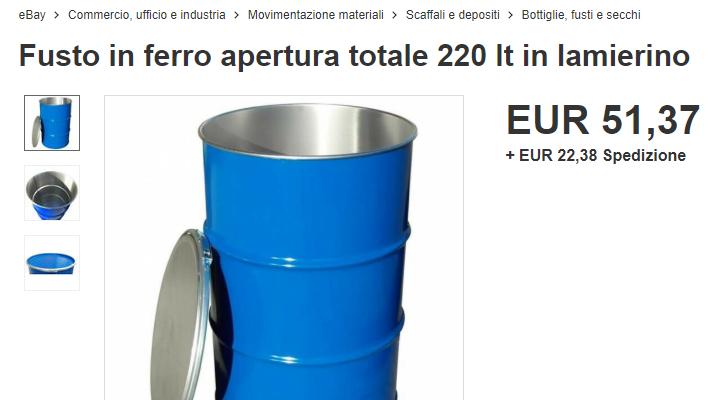 Barile Petrolio a ZERO dollari